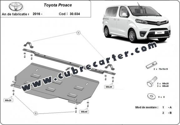 Cubre carter metalico  Toyota Proace MPV