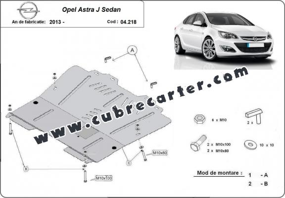 Cubre carter metalico Opel Astra J Sedan