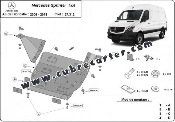 Cubre carter metalico Mercedes Sprinter 4x4