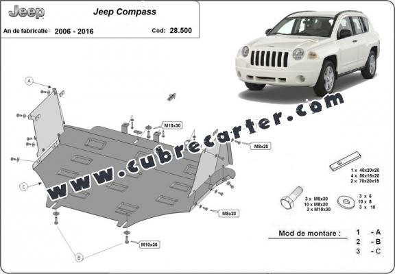 Cubre carter metalico Jeep Compass