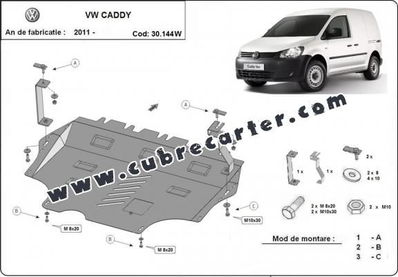Cubre carter metalico VW Caddy - con WEBASTO